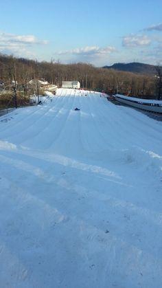 Snowtubing at Ski Roundtop - what a rush!