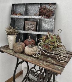 Rustic Farmhouse Autumn Vignette