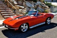 ☆ Orange Corvette 60's - WOW ☆