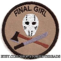Final Girl Geek Merit Badge Patch by StoriedThreads on Etsy, $7.00