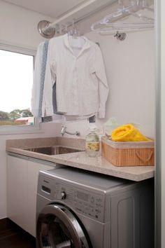 soluções cozinha area de servico integradas - Pesquisa Google Modern Laundry Rooms, Laundry Room Design, Laundry Room Inspiration, Small Laundry, Small Apartments, Home Organization, Washing Machine, Sweet Home, Home Appliances