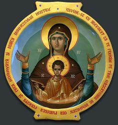 Holly Spirit, Paint Icon, Byzantine Art, Holy Mary, Blessed Virgin Mary, Orthodox Icons, Sacred Art, Religious Art, Holi