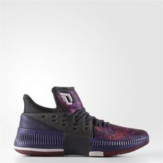 wholesale dealer 65cdd 97dcb Adidas Dame 3 Florist City Shoes (Core Black  Ice Purple  Cardinal) Adidas