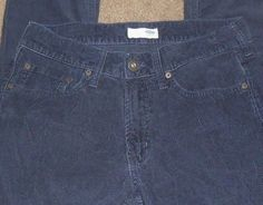 OLD NAVY Pants Corduroy Skinny Slim Fit Casual Men Size 30W x 32L Navy Blue Flat…