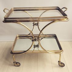 Vinterior is the online marketplace where the world buys and sells remarkable vintage and antique furniture across every lifestyle, budget and taste. Retro Furniture, Antique Furniture, Layered Drinks, Drinks Trolley, Mid Century Furniture, Bar Cart, French Vintage, Brass, Antiques