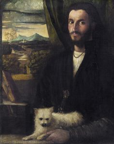 Cariani - Portrait of a Man with a Dog