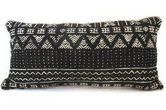 Mud Cloth Lumbar Pillow No. 7