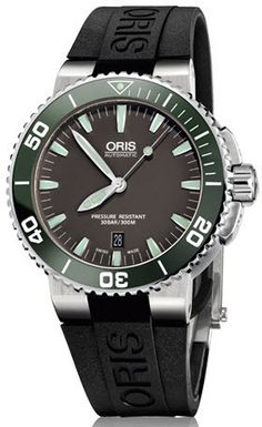 Oris Watch Aquis Date Rubber #bezel-unidirectional #bracelet-strap-rubber…