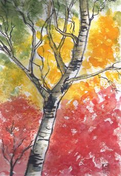L'automne passé. Les Oeuvres, Creations, Painting, Art, India Ink, Watercolor Painting, Fall, Craft Art, Paintings