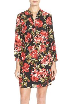 Charles Henry Crepe Shirtdress available at #Nordstrom