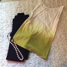 Green ombré tank Never worn still have tags! $10 or best offer. Send offers, price negotiable  LOFT Tops Tank Tops