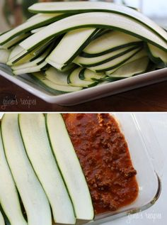 #paleo Zucchini Lasagna: 1 lb grass-fed Ground Beef; 1 cup Green Bell Peppers, chopped; 1 cup Onion, chopped; 1 Tbsp Fresh Basil; 1 Tbsp Italian Parsley; 1 Tbsp Fresh Oregano, or dried; 1 Zucchini, sliced thinly; 1 ¼ cup Mushrooms, sliced; 15 oz Tomato Sauce; 3 cloves Garlic, minced; 6 oz Tomato Paste; 1 tsp Salt and Pepper, to taste