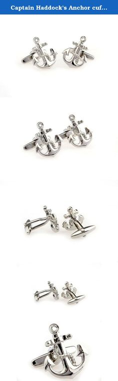 Captain Haddock's Anchor cufflinks with giftbox - hipster - Business Gift Accessories Men. Show yourself to be as steadfast as an anchor. Perfect for reminding the fishing fanatic or the yacht lover of the great blue sea. Trendy yet elegant, suitable for all occasions. Made with rhodium plated alloy, which does not tarnish or rust over time. No polishing required. All cufflinks come with complimentary giftboxes. More than 1000 designs available on www.thelittlelink.com. Established since…