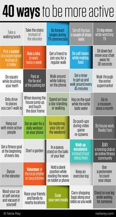40 ways to be more active! To make the most out of your camping experience conta… Health And Fitness Tips, Health And Wellbeing, Health And Nutrition, Fitness Diet, Health Tips, Walking For Health, Walking Exercise, Weight Loss Motivation, Fitness Motivation