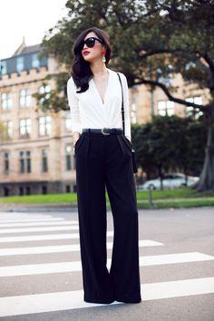 широкие брюки с чем носить - Поиск в Google