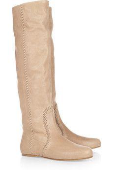 Miu Miu - Leather knee boots