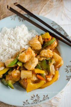 Mirabelkowy blog: Kurczak w sosie słodko-kwaśnym Asian Recipes, Keto Recipes, Healthy Recipes, Ethnic Recipes, Breakfast Recipes, Dinner Recipes, Yummy Mummy, Love Food, Meal Prep