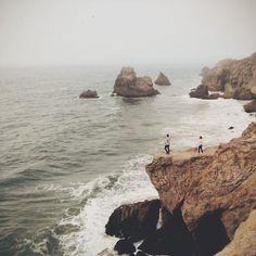 One of many crazy awesome sights along San Francisco's wild coast