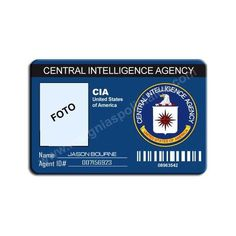 CIA CUSTOM ID CARD [CREDENCIALES PARA PERSONALIZAR] - €15.00 : Police... ❤ liked on Polyvore featuring supernatural, other, fillers, accessories and cops
