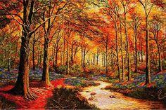 as mais belas pinturas em bordados de seda