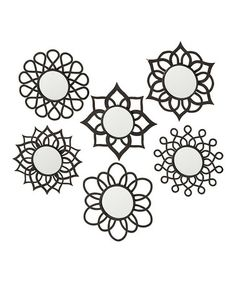 Take a look at this Six-Point Flower Mirror Set by Grasslands Road on #zulily today!