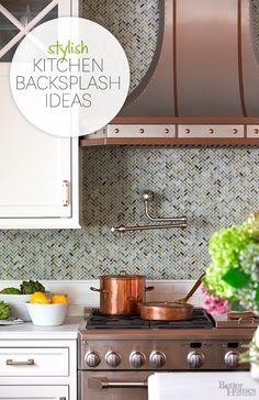 Update your kitchen with one of these stylish backsplash ideas: