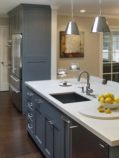 Gray Kitchen Island with Sink - 99 Beautiful Kitchen Island Design Ideas on HGTV  possible gray island