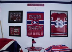 Montreal Canadiens Room Montreal Canadiens, Bedroom Themes, Ideas, Thoughts