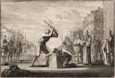 Karel I was van 1625 tot 1649 koning van Engeland. Hij ontbond het parlement als hij zijn zin niet kreeg en riep het weer bijeen als hij geld nodig had voor zijn buitenlandse politiek. Hij gedroeg zich als een absolutistische vorst en kreeg het parlement tegenover zich. De Engelse standenvertegenwoordiging nam hem uiteindelijk gevangen en eiste de doodstraf. Karel I werd onthoofd op 30 januari 1649 bij de Whitehall Palace tussen twee en drie uur 's middags.