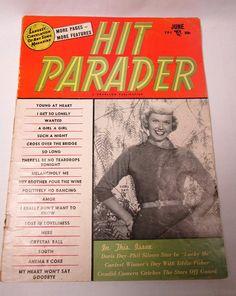 Vintage Hit Parader Magazine Mag June 1954 Doris by AVintageStore