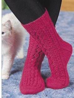 Knitting - Accessories - Lace Leaf Socks