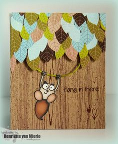 Hang in there #card by Henriëtte van Mierlo - #PaperSmooches