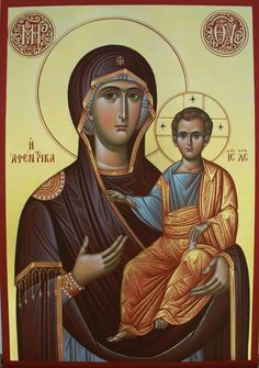 Icon of Panagia Religious Images, Religious Icons, Religious Art, Blessed Mother Mary, Blessed Virgin Mary, Our Lady Of Rosary, Writing Icon, Christ Pantocrator, Images Of Mary