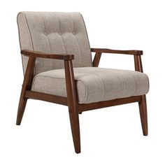 Worldwide Home Furnishings 403-135 !nspire Mid Century Modern Accent Chair