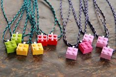 Lego Necklace:  Choose Your Own Creation. Birthday Party Favor. Gift.. $7.00, via Etsy.