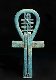 Egyptian Amulet in the shape of an ankh, 2nd-1st BC.