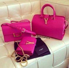 pink ysl handbag