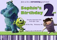 Monsters Inc Birthday Invitation by MagiKelDesignsForYou on Etsy