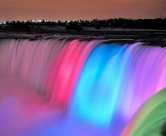 Amor Além da Vida shared by Cristin on We Heart It Niagara Falls At Night, Rainbow Waterfall, Rainbow Falls, Rainbow River, Dont Forget To Smile, Don't Forget, Les Cascades, Beautiful Waterfalls, Reasons To Smile