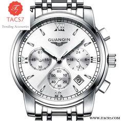 Stainless Steel Quartz Chronograph Luminous Wristwatch