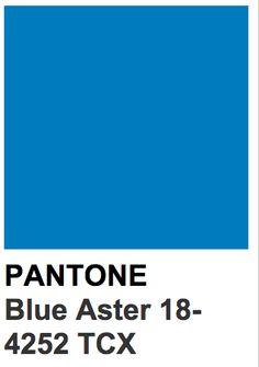 Pantone 18-4252 TCX Blue Aster Pantone Azul, Pantone Colour Palettes, Pantone Color, Color Shades, Shades Of Blue, Persian Blue, Cyan Blue, Blue Colour Palette, Pallet Painting