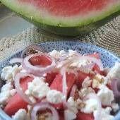 Watermelon and Feta Cheese Salad - Greek food photos