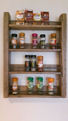 Wooden Spice Rack Wall Mount Custom Wood Shelving Reclaimed Wood Shelves Bathroom Shelves  Wall Inspiration