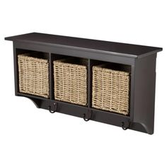 Entryway Organizer with Seagrass Baskets