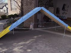 I want to build this for Redford!  DIY A-frame, teeter, and weave poles