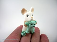 Little Mouse with Teddy and Bunny Slippers