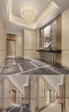 These Are The Most Luxurious Hotel Lobby Designs When it comes to getting a hotel ready to greet its guests, a lobby design is a tell-all. The entrance to a brand new world of luxury, these Corridor Design, Foyer Design, Entrance Design, House Design, Elevator Lobby Design, Hotel Lobby Design, Lobby Interior, Interior Design, Modern Hotel Lobby
