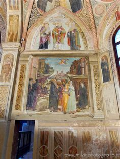 Milan (Italy) - Left wall of the Obiano Chapel in the Church of San Pietro in Gessate