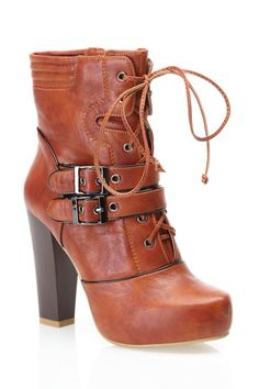 Cognac Booties / Nicole Lee