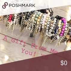 A special gift with your purchase from S+P 🍭 ✨💎 This weekend, when you spend $50 or more with @vaultofvanity, I'm giving away a stack of (3) stone & chain bracelets as a thank you to every Posher that has made this such a fun and amazing experience. I am truly grateful and it's my little way of saying thank you! When you make a purchase, please comment, include your name, 2 favorite colors (or which style/color from the photo, and you'll receive your arm 🍭 candy from Stone + Proper…